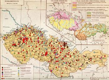 Сельськохозяйственная карта Чехословакии