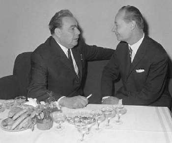 встреча Брежнева с Дубчеком в Москве